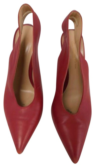 Item - Red Leather Slingback Heels Pumps Size US 8.5 Narrow (Aa, N)