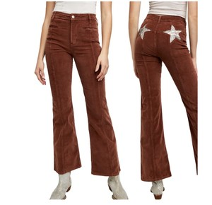 Free People Flare Leg Jeans-Coated