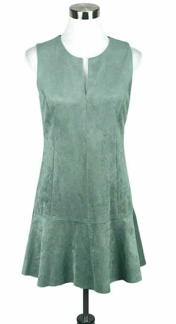 Item - Green Adelene Faux Suede Short Night Out Dress Size 6 (S)