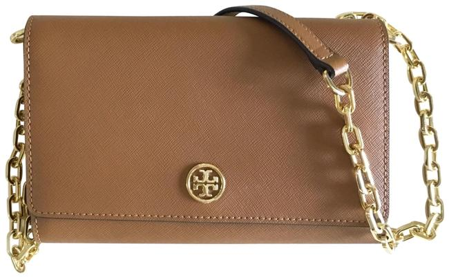 Item - Robinson Chain Wallet Tan/ Brown Leather Cross Body Bag