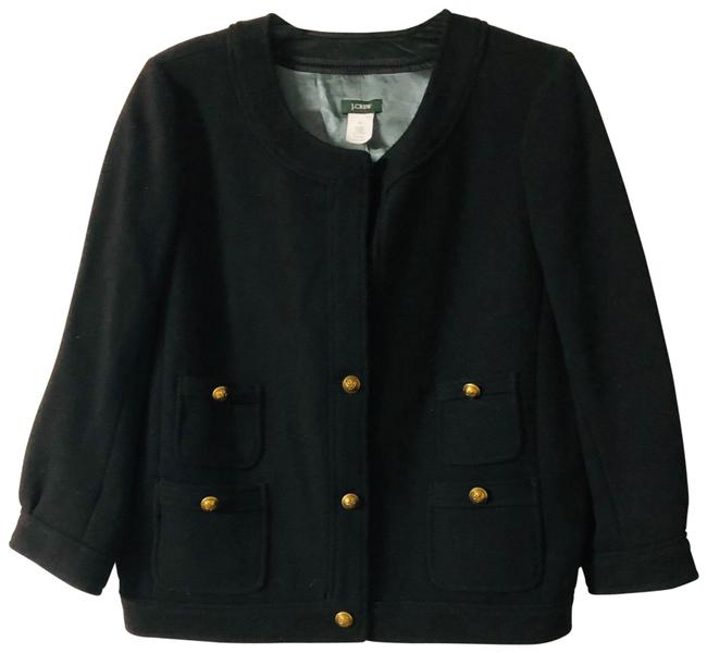 Item - Black Wool Gold Buttons Jacket Size 10 (M)