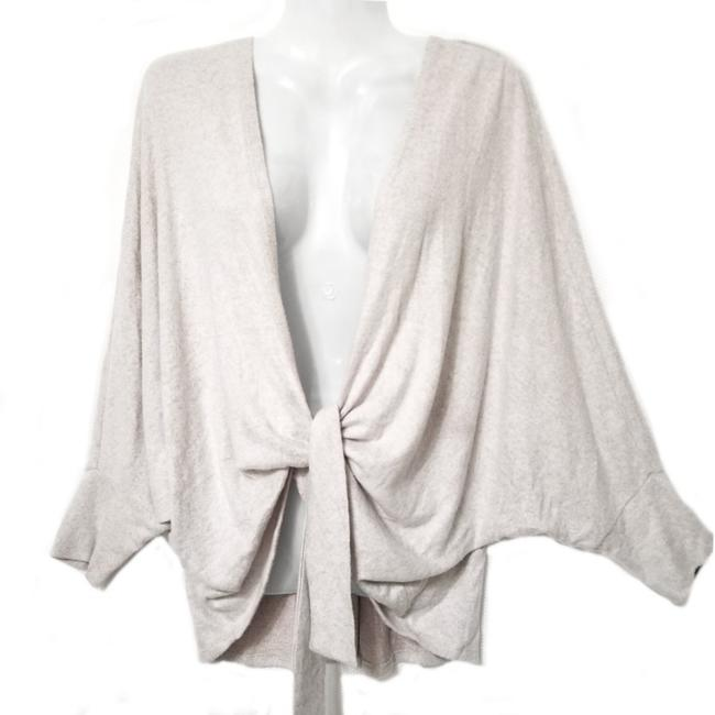 Item - Oatmeal Tie Front Sweater Cardigan Size 8 (M)