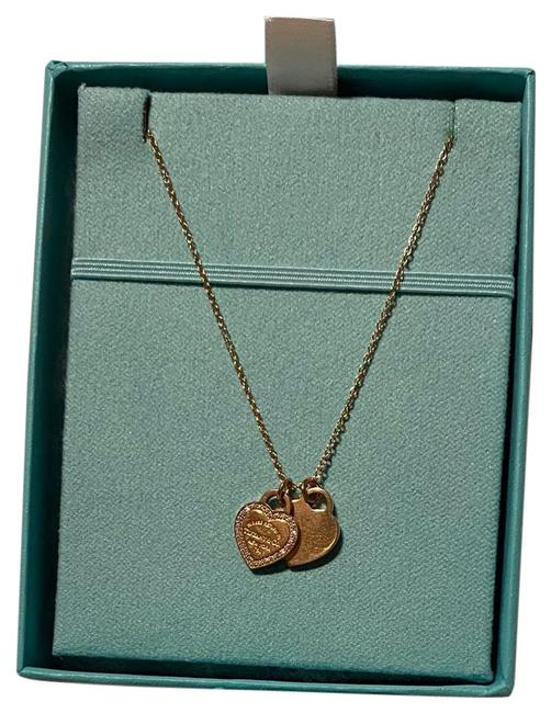 Item - Gold Rose Double Heart Return To Necklace