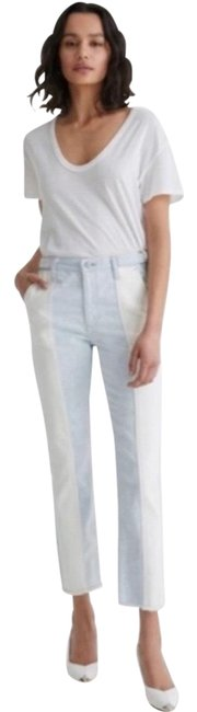 Item - Blue Medium Wash The Isabelle High Rise Straight Crop Capri/Cropped Jeans Size 8 (M, 29, 30)