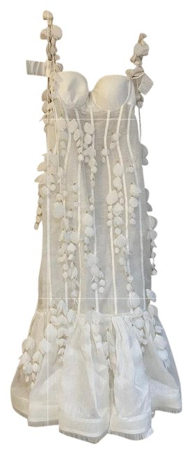 Item - White Mid-length Cocktail Dress Size 6 (S)