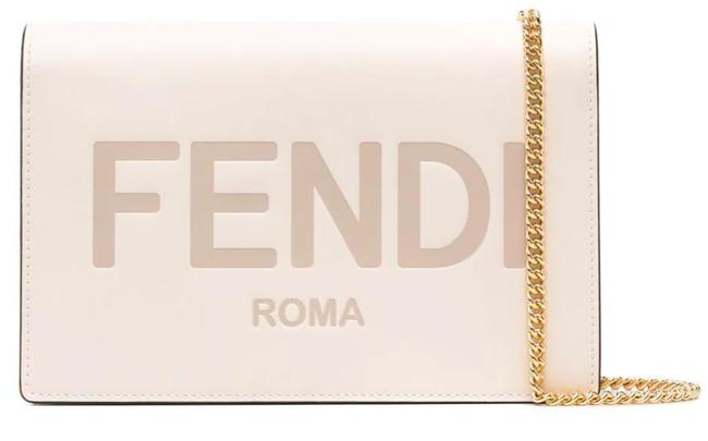 Item - New Logo Chain Wallet Purse Ivory Leather Cross Body Bag