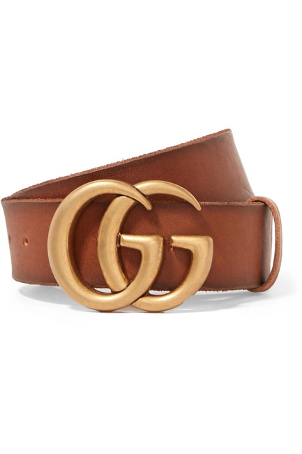 Item - Brown - Gg Thick Leather - Size 80 Belt