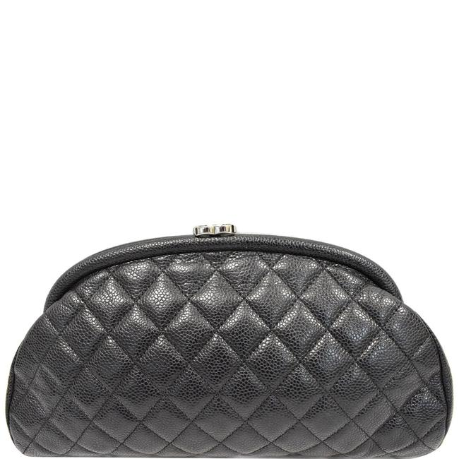 Item - Timeless Quilted Black Caviar Leather Clutch