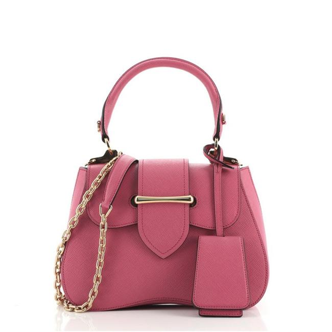 Item - Top Handle Sidonie Saffiano Small Pink Leather Cross Body Bag