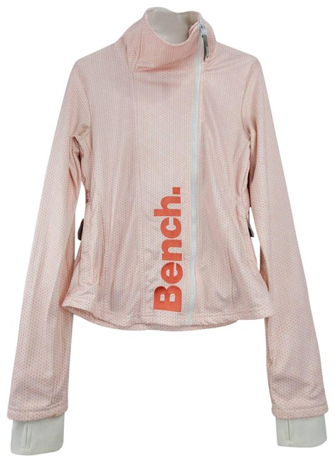 Item - Neck Long Sleeve Front Zip Up Active Wear Pink Sweater