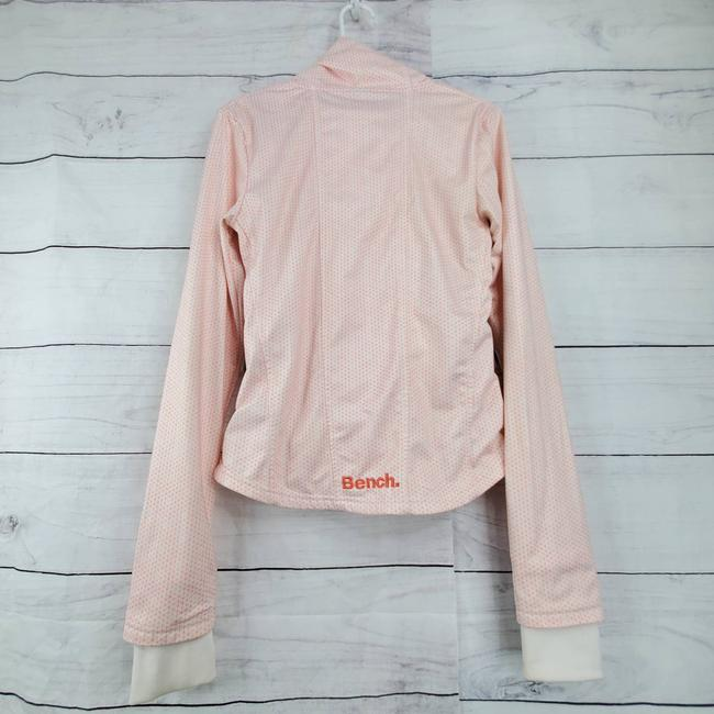 Bench Neck Long Sleeve Front Zip Up Active Wear Pink Sweater Bench Neck Long Sleeve Front Zip Up Active Wear Pink Sweater Image 2