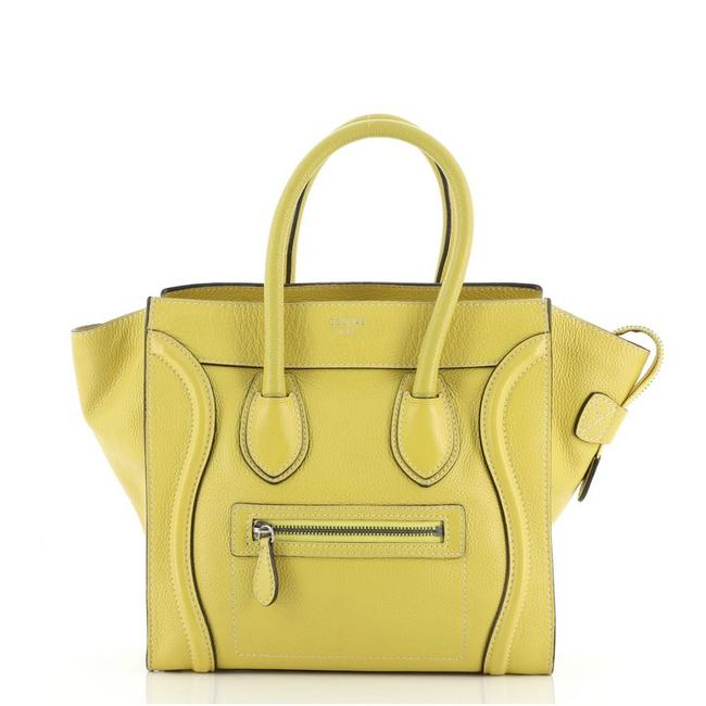 Item - Luggage Micro Yellow Grainy Leather Weekend/Travel Bag