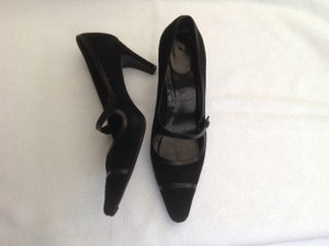 Coach Black Suede Pumps
