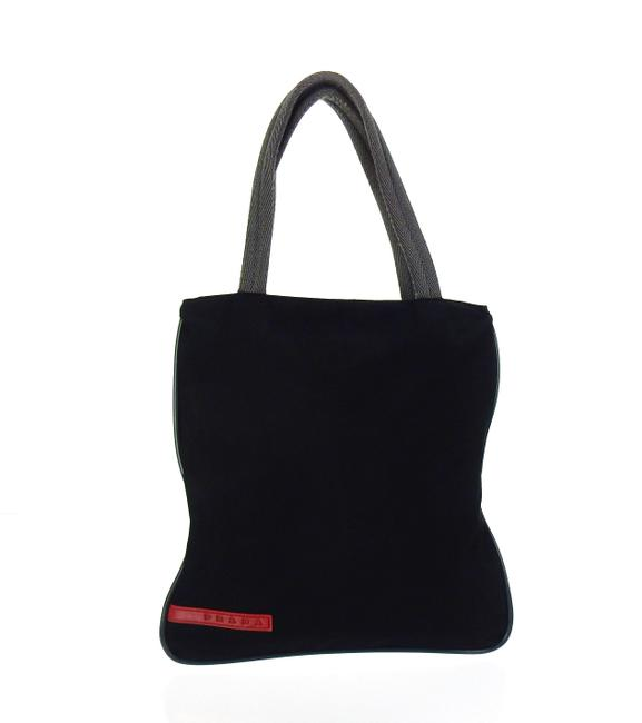 Item - Linea Rossa Sport Black and Gray Poly Canvas Tote