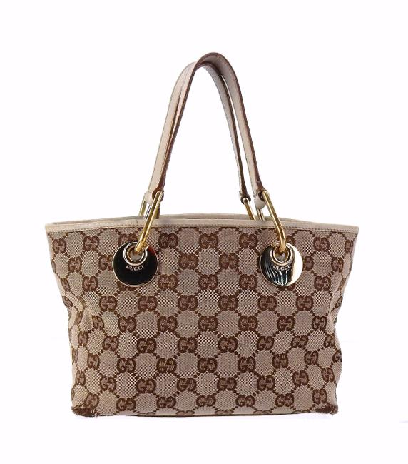 Item - Mini Shopper Brown Gg Monogram Canvas and Leather Tote