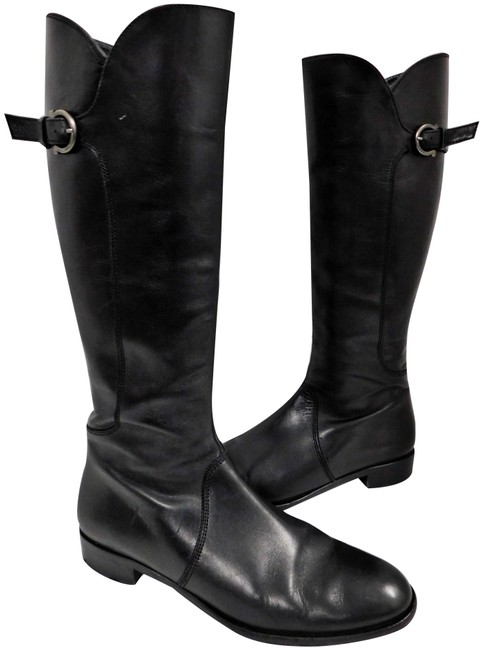 Item - Black Leather Gancini Tall Italy Boots/Booties Size US 9.5 Regular (M, B)