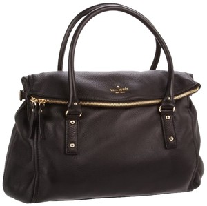 Kate Spade Leather Designer Cobblehill Classy Cute Chic Stylish Satchel in Black