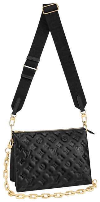 Item - Coussin New Pm Black Gold Lambskin Leather Cross Body Bag