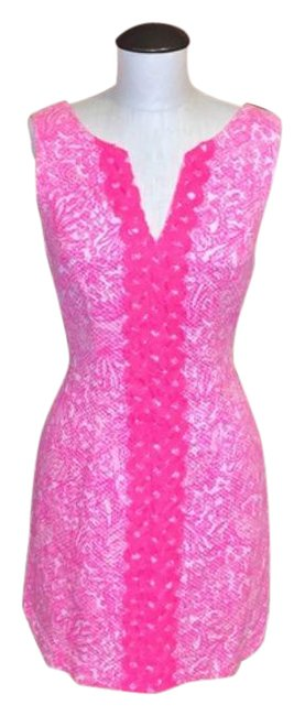 Item - Pink See You Later Sleeveless Shift Short Casual Dress Size 6 (S)
