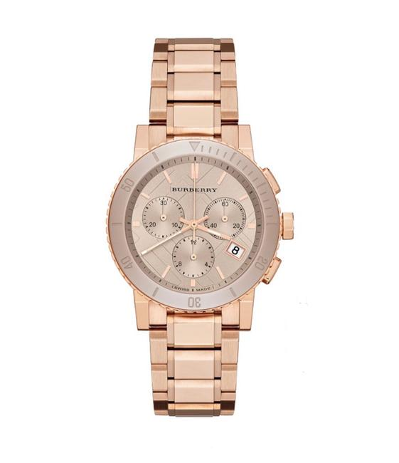 Item - Rose Gold New Women's Bu9703 'the City' Chronograph Rose-tone Stainless Steel Watch