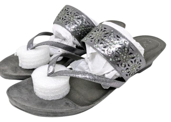 Item - Pewter Great Chime Wedge M Sandals Size US 9.5 Regular (M, B)