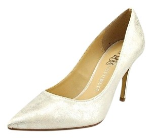 Rock & Republic Wedding Evening Stiletto White W/ Metallic Silver Pumps