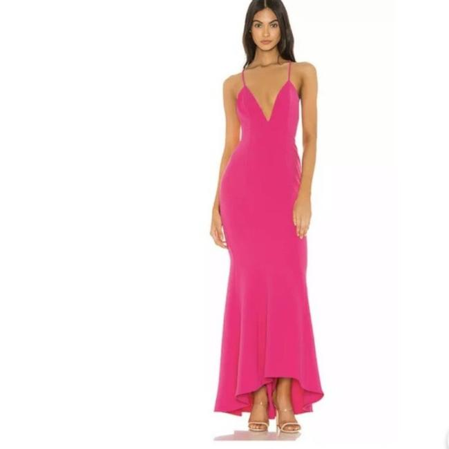 Item - Pink Mindy Hot Full Length Gown Small Casual Maxi Dress Size 6 (S)