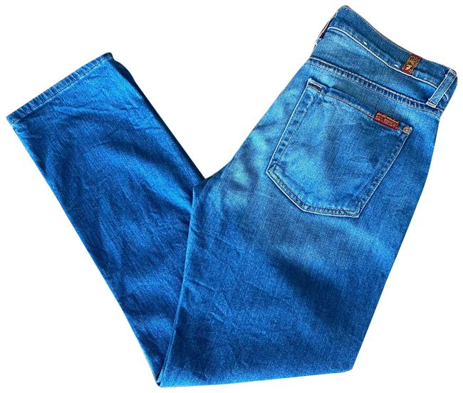 Item - Denim Light Wash The Cropped Relaxed Skinny Jeans Size 4 (S, 27)