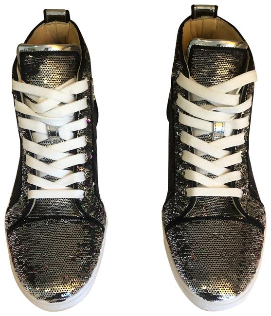 Item - Silver and Rainbow Sequins Bip Bip Woman Orlato Flat Paillettes Sneakers Size EU 39.5 (Approx. US 9.5) Regular (M, B)