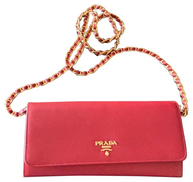 Item - Saffiano Red Leather Cross Body Bag