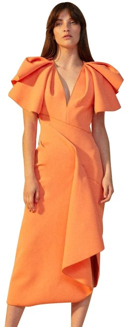 Item - Orange Redwood Structured Bodycon Casual Maxi Dress Size 4 (S)