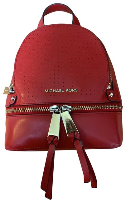 Item - Mini Convertible Red Leather Backpack