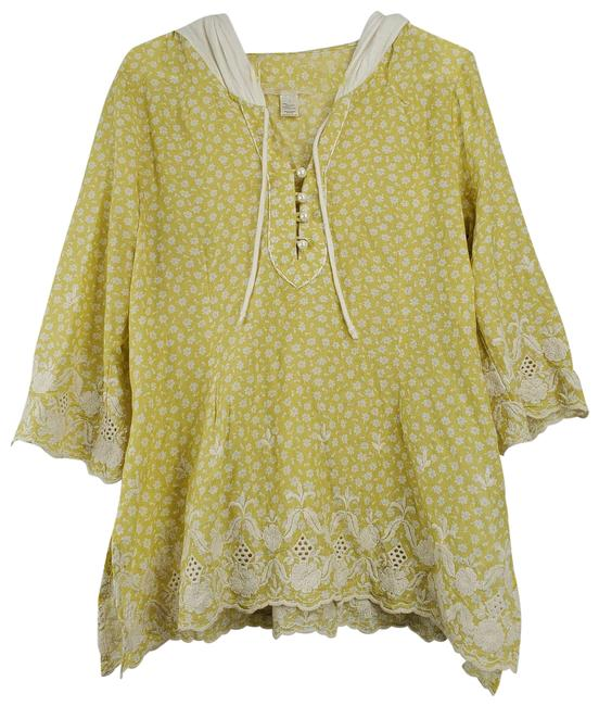 Item - Yellow Hooded Pheasant Blouse Size 12 (L)