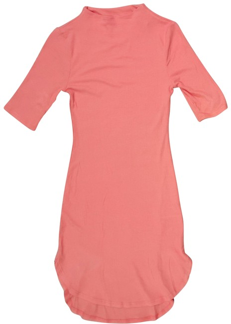 Item - Coral Sm Ribbed Bodycon Mini 704 Short Casual Dress Size 4 (S)