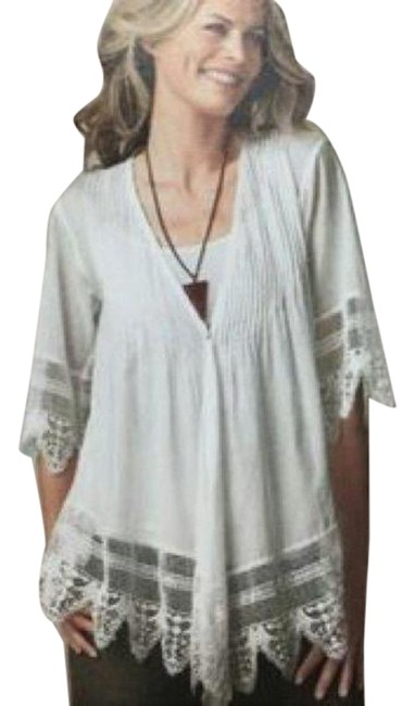 Item - White 981 Falling Lace Pleated S Cardigan Size 4 (S)