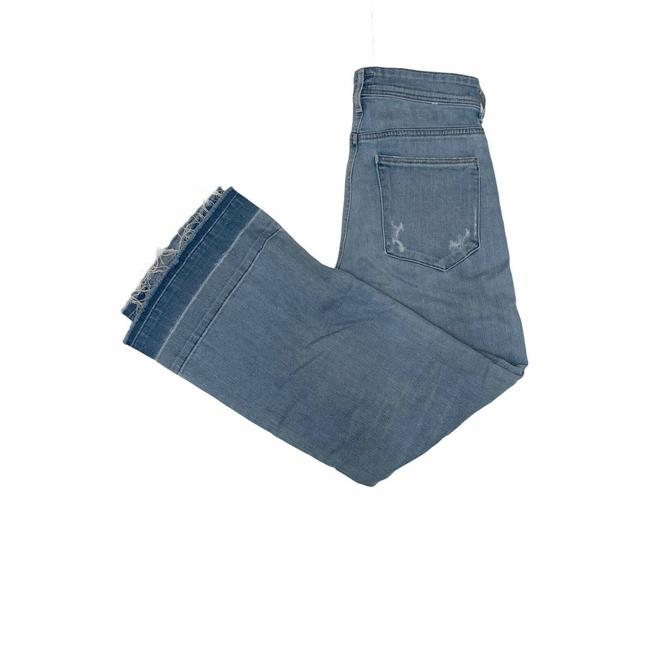 Item - Blue Cropped Distressed A035-206 Trouser/Wide Leg Jeans Size 25 (2, XS)