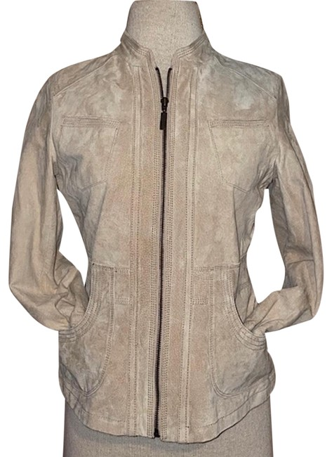 Item - Beige Suede Small Jacket Size 4 (S)