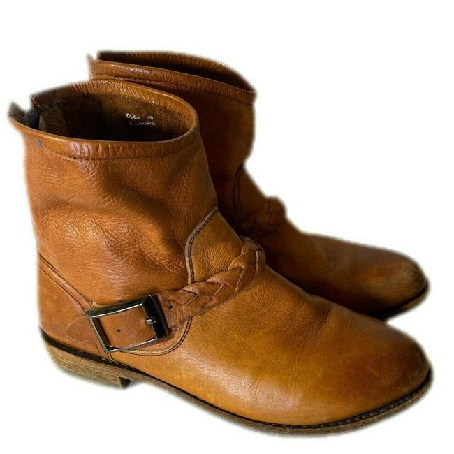 Item - Brown Dl04 Leather Ankle 38/Us 7 Boots/Booties Size EU 38 (Approx. US 8) Regular (M, B)