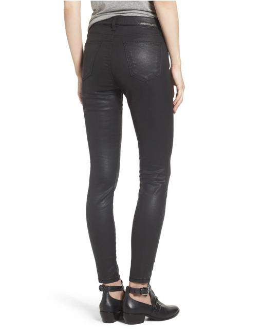 Item - Black Coated High Waist Ankle Skinny Jeans Size 26 (2, XS)