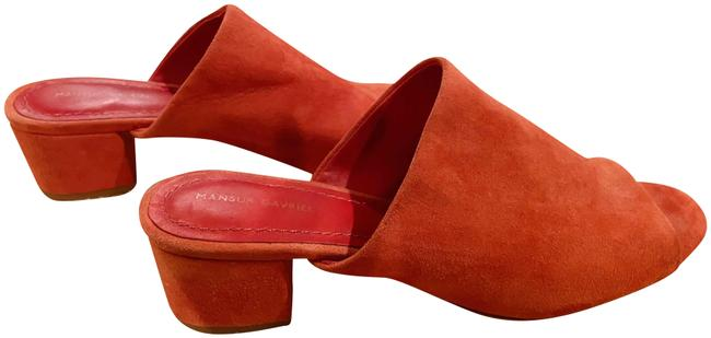 Item - Brick Red Suede Chunky Mule Sandals Size EU 37 (Approx. US 7) Narrow (Aa, N)