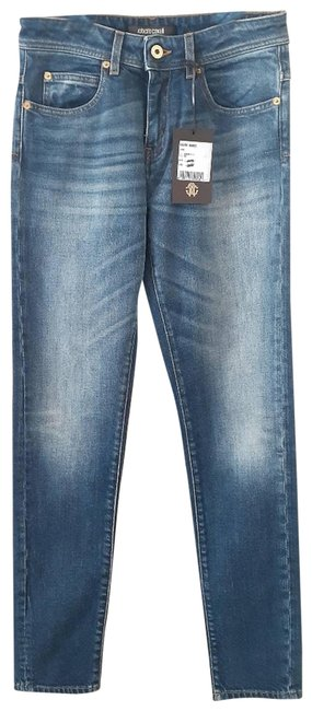 Item - Blue Embroidered 40(Italy)= 4(Us) Straight Leg Jeans Size 27 (4, S)