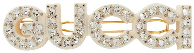 Item - Gold Tone Small Crystal-embellished Resin and Clip Hair Accessory