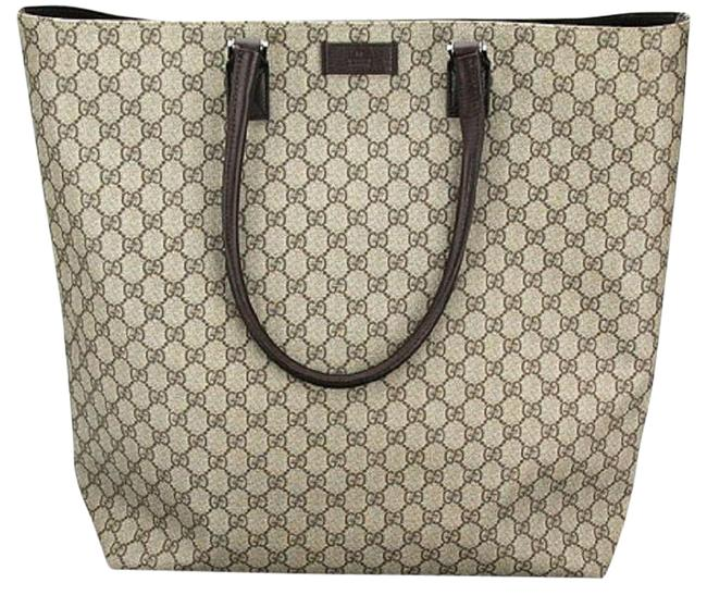 Item - Bag Coated Extra-large Beige Gg Supreme Canvas Tote
