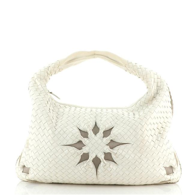 Item - Cut Out Intrecciato Nappa Large White Leather Hobo Bag