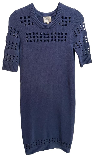 Item - Navy Sweater Short Casual Dress Size 4 (S)