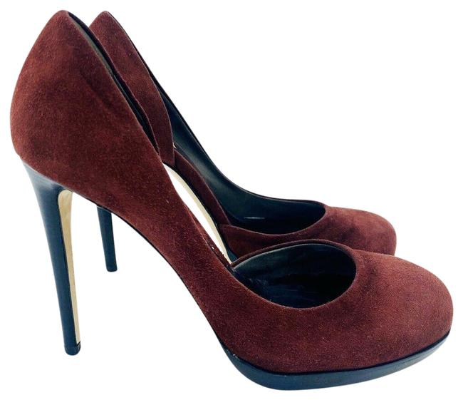 Item - Red Burgundy Suede Leather D'orsay Pumps Size EU 37.5 (Approx. US 7.5) Regular (M, B)