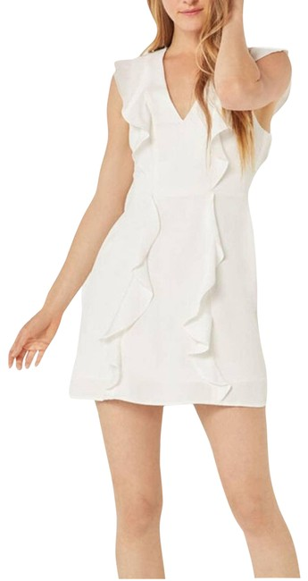 Item - White Eve Off Woven Ruffle (12) Short Cocktail Dress Size 12 (L)