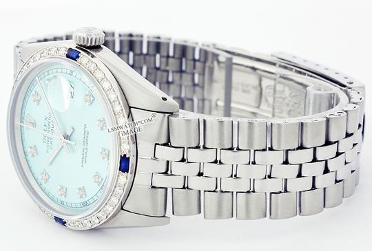 Rolex ROLEX 36MM DATEJUST ICE BLUE DIAMOND & SAPPHIRE STAINLESS STEEL WATCH