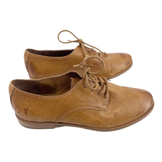 Item - Camel Anna Leather Lace Up Oxford Loafers Flats Size US 7.5 Regular (M, B)