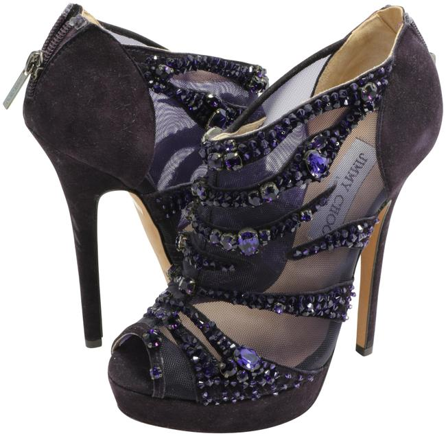 Item - Purple Kerfield Embellished Suede and Mesh Booties Pumps Size EU 36 (Approx. US 6) Regular (M, B)